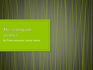 The ecological cleaner