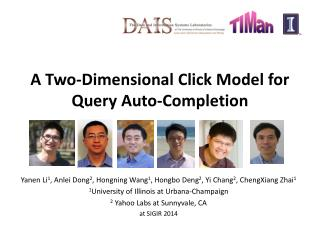 A Two-Dimensional Click Model for Query  Auto-Completion