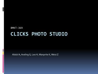 CLICKS Photo Studio
