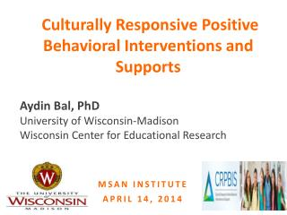 Culturally Responsive Positive Behavioral Interventions and Supports