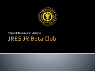 JRES JR Beta Club