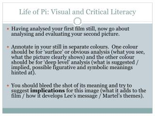 Life of Pi: Visual and Critical Literacy