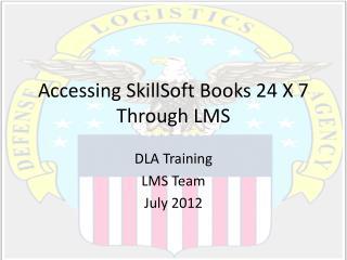 Accessing  SkillSoft  Books 24 X 7 Through LMS