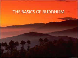 THE BASICS OF BUDDHISM