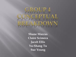 Shane Marcus Claire  Scimeca Jacob Ellis Yu-Shang  Tu Sue Young