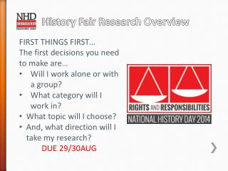 History Fair Research Overview