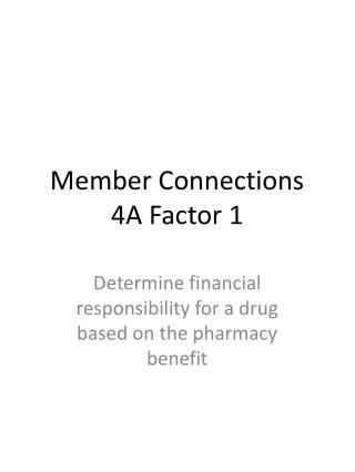 Member Connections 4A Factor 1