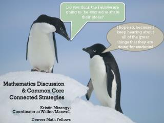 Mathematics Discussion & Common Core Connected Strategies