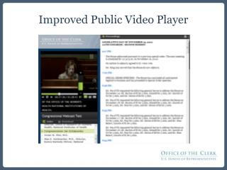 Improved Public Video Player