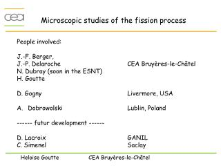 Microscopic studies of the fission process