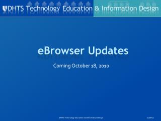 eBrowser Updates
