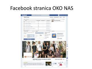 Facebook  stranica  OKO NAS