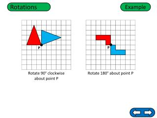 Rotate 180 ° about point P