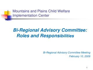 Mountains and Plains Child Welfare Implementation Center