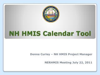 NH HMIS Calendar Tool