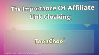 ppt 42078 The Importance Of Affiliate Link Cloaking