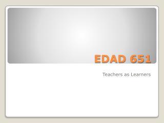 EDAD 651