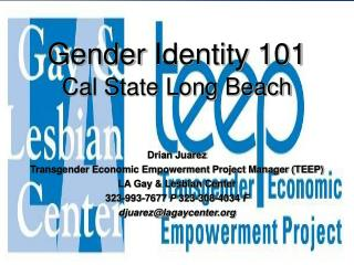 Gender  Identity 101  Cal State Long Beach