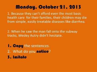 Monday, October 21, 2013