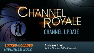 Andreas Hartl Senior Director EMEA Channels