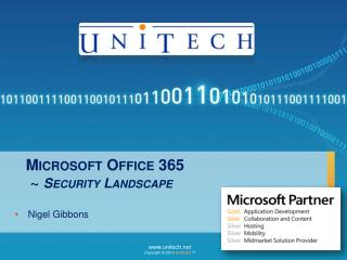 Microsoft Office 365 ~  Security Landscape