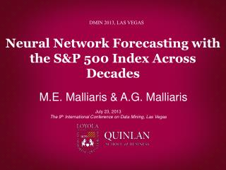 Neural Network Forecasting with the S&P 500 Index Across Decades