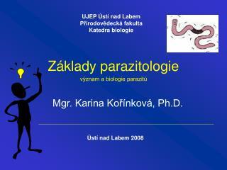 Z klady parazitologie