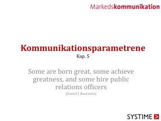 Kommunikationsparametrene Kap. 5