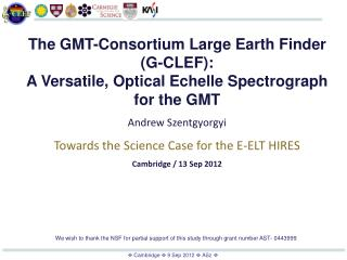 The GMT-Consortium Large Earth Finder (G-CLEF):