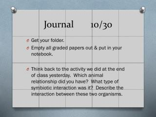 Journal10/30
