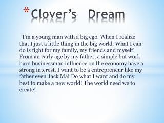 Clover's   Dream