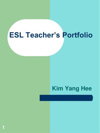 ESL Teacher's Portfolio
