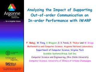 Analyzing the Impact of Supporting Out-of-order Communication on In-order Performance with iWARP