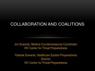 Collaboration and Coalitions