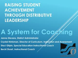 Raising Student Achievement Through Distributive Leadership