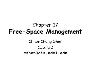 Chapter 17 Free-Space Management