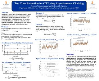 Test Time Reduction in ATE  Using  Asynchronous Clocking