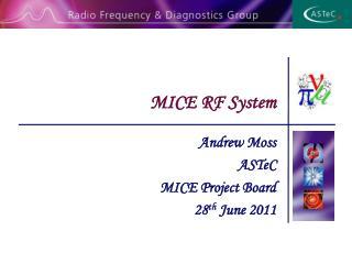 MICE RF System