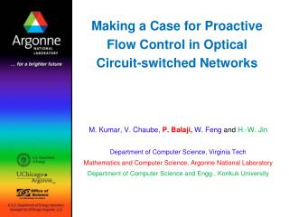 Making a Case for Proactive Flow Control in Optical Circuit-switched Networks
