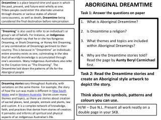 What is Aboriginal Dreamtime? Is Dreamtime a religion?