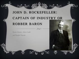 """an introduction to john d rockefeller a robber baron In march, david rockefeller, the last surviving grandchild of robber baron john d rockefeller, died at the age of 101 as christie's prepares to """"i had no idea i would live to be 100, or that my deep interest in art would continue unabated,"""" rockefeller wrote in his preface to this volume david's childhood home, at 10 west."""