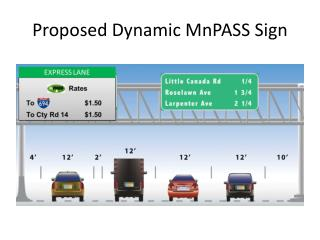 Proposed Dynamic MnPASS Sign