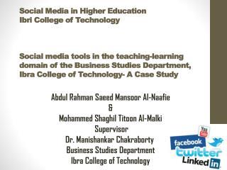 Abdul  Rahman Saeed Mansoor  Al- Naafie & Mohammed  Shaghil Titoon  Al- Malki Supervisor