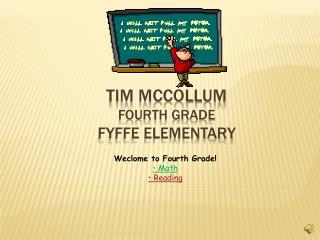 Tim McCollum Fourth Grade Fyffe Elementary