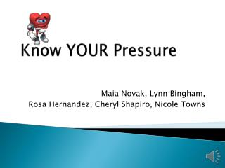 Know YOUR Pressure
