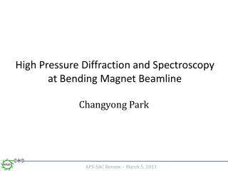 High Pressure Diffraction and Spectroscopy at Bending Magnet Beamline