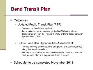 Bend Transit Plan