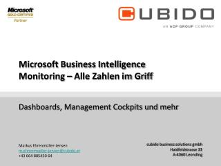 Microsoft Business  Intelligence Monitoring  – Alle Zahlen im Griff