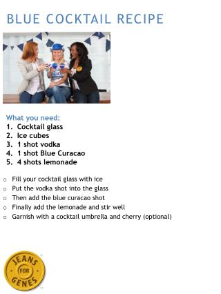 BLUE COCKTAIL RECIPE