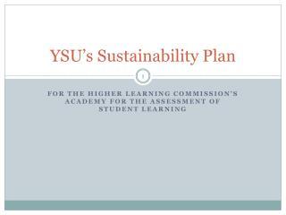 YSU's Sustainability Plan